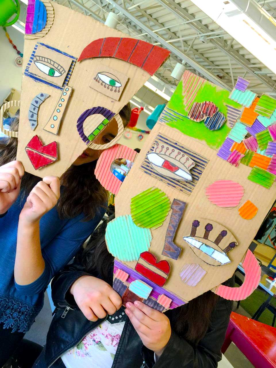 Handmakery masks in the making for Cardboard for projects